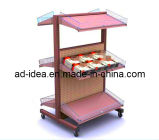 Double Side Hardware/4 Layer Metal/Multifunction/Pipe Metal Rack Display Equipment/Display Stand/Display Rack for Grocery/Bread/Retail Store Fixtures/ (AD-4252)