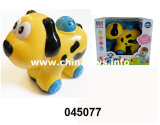 Battery Operated Car Dog Toy with Music and Light (045077)