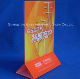 Plastic PMMA Acrylic Menu Holder for Display Standing