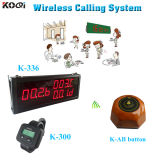 Wireless Service Calling System K-336+K-300 Call Button K-Ab with 1 Key