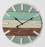 Antique Clolrful Wall Wooden Clock - 20 Inch