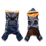 Dog Clothes Denim Dress Fashion Pet Clothes for Dog Cowboy Clothing Spring and Autumn Cat Coat