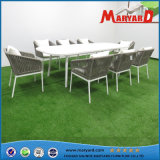 Rope Weaving Aluminum Dining Set Garden Furniture