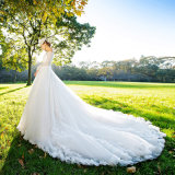 Wholesale Cheap High Quality Big Train Bridal Wedding Dress