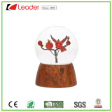 Hand-Painted Resin Craft Snow Globe with Red Tree Water Globe for Home Decoration and Souvenir Collections