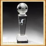 Glass Crystal Trophy Custom Soccer Ball Class