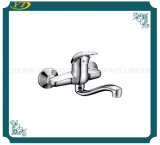 Sanitary Ware Wall Mounted Zinc Handle Bathroom Faucet