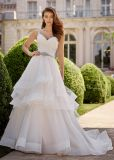 Amelie Rocky Spaghetti Straps Beaded Ruffles Wedding Ball Gowns Bridal Dress