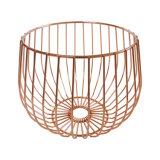 Rose Gold Wire Pastry Fruit Plate Snack Storage Holders and Racks