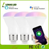 Smart LED Bulb Wi-Fi Light Multicolored Br20 E26 LED Dimmable 50W Equivalent (8W) Smartphone Controlled LED Bulb