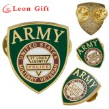 Factory Custom Names of Suppliers Police Gold Metal Craft Enamel Badge Masonic Button Lapel Pin