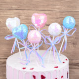 Paillette Heart Ball Cake Decorating Topper