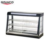 2.2 Kw Stainless Steel Electric Food Warmer Display Glass Showcase Kitchen