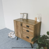 Metal Industrial Living Room Cabinets Dining Room Sideboards with 3 Drawers Wooden Furniture