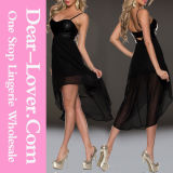 Gorgeous High Low Straps Prom Party Evening Dress