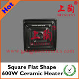 Square Flat Shape 600W Ceramic Heater