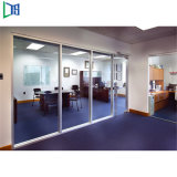 Double Layer Glazed Partition Wall for Office Meeting Room Acoustic Glass Partition