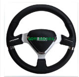 14in Black Leather Car Steering Wheel Universal for Car Brand
