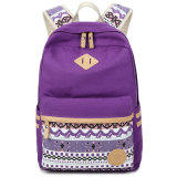 Made in China Xqxa Brand Factory High Quality Competitive Price Strong Canvas Exquisite Colorful Elegant Girl Backpack Bag with Big Space