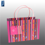 Customized High Quality Paper Gift Bag with PVC Handle