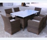 Rattan Dining Table and Chair for Garden