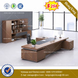 Dark Gry Modesty Panel Oak Desk Top Office Table (HX-8NE019)