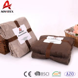 Polyetser New Design Embossed Tree Leaves Micromink Blanket
