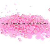 Rose Ab Half Round Craft ABS Imitation Pearls Scrapbook Beads Nail Rhinestone Decoration for Nail Art Decorations (TP-rose ab)
