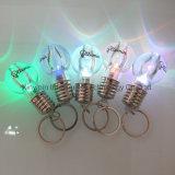 Free Sample Custom Print Logo Wholesale Mini Creative Colorful Light Flash Lamp Bulb Torch Flashlight Mini Bulb LED Keychains