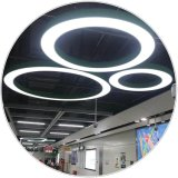 Ring Pendant Light LED D5000mm Black, White, Gray