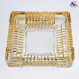Gold Plated Ashtray Colored Glass Ashtray Large Crystal Ashtray