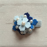 New Arrival Girls Felt Hydrangeas Hair Clip - Blue Mix (JD20061201)