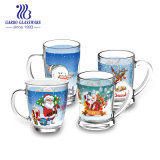 China Decorative Gift Drinking Mug Cheap 360ml Christmas Big Transparent Glass Tea Coffee Mug (GB094213-TH)
