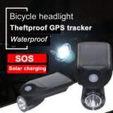 Waterproof Bicycle Headlight Salar Charging GPS Tracker