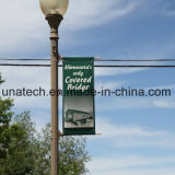 Ads Outdoor Festival Flags Advertising Street Lamp Pole Poster Banner Flex Support