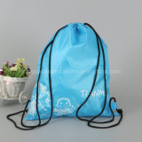 Wholesale Bulk Cheap Promotional Custom Printed Waterproof Drawstring Nylon Gift Bag