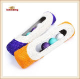 Pet Product Sisal Roller Cat Toy with Plastic Ball (KB3011)