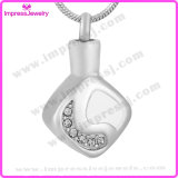Lockets for Ashes Rhombus Pendants with Crystals Ijd9680