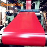 Red Color PE PVDF Zinc Coating Galvanized Steel Coil for Building Roofing Sheet