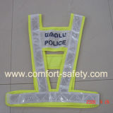 LED Traffic Warning High Visibility Flashing Safety Vest