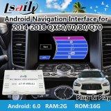 Android 6.0 GPS Navigator for 2014-2018 Infiniti Qx60/70/80/Q70 Video Interface with WiFi Waze Mirrorlink OEM Knob Control