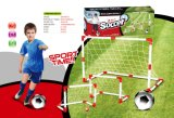 Kid Playing Football with Football Goal Toy