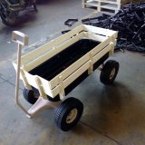 Popular Wholesale Children Toy Wooden and Metal Hand Wagon Cart Tc1801