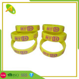 Wholesale Fashion Cheap Custom Silicone Bracelet with Segmented Color for Promotion/Promotional Events (001)