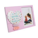 Lovely Design Wood Photo Frames with Ceramic Ornament