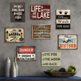 Home Decor Canvas Modern Unique Wood Metal Wall Art