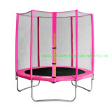 Coolmore Cheap 6FT/8FT Round Trampoline with Safety Enclosure Set System - Pink and Yellow