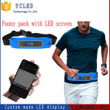 Waist Bag, Cheap Printing Logo Polyester Nylon Fanny Pack, Belt Bag, Wallet, Purse Waist Bag with LED Display