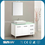 Hotel Sale Modern Furniture MDF Bathroom Vanity with Sink