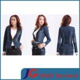 Black Lace Collar Women Jeans Suit Jeans Clothing (JC4069)
